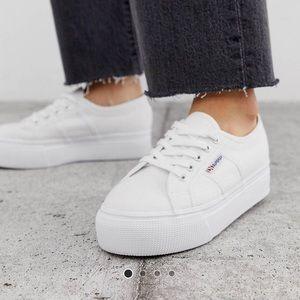 Superga 2790 white platform sneakers acot linea